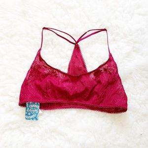 Free People So Into You Berry Bralette Size M